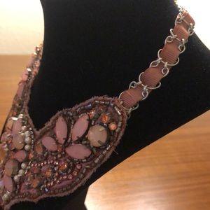 LOFT Jewelry - Vintage Rose pink bib statement necklace